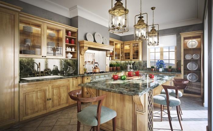 Amenajari interioare bucatarii clasice poze inspiratie for Southern style kitchen design