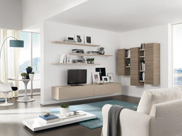 mobila sufragerie comoda tv rafturi si dulapuri suspendate