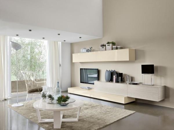 mobila sufragerie moderna corpuri lungi de dulap cu impresia de raft