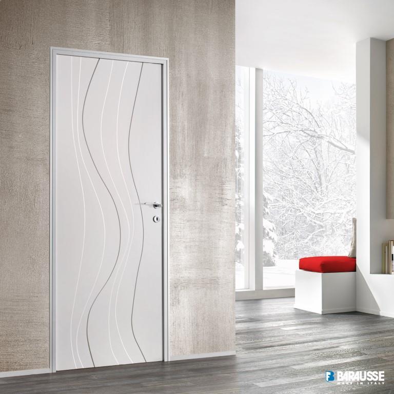 usi albe model interioare moderne