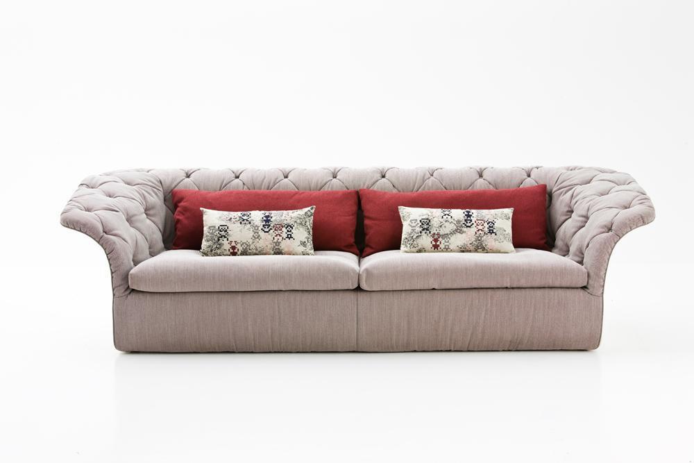 mobilier vintage canapea bej material textil