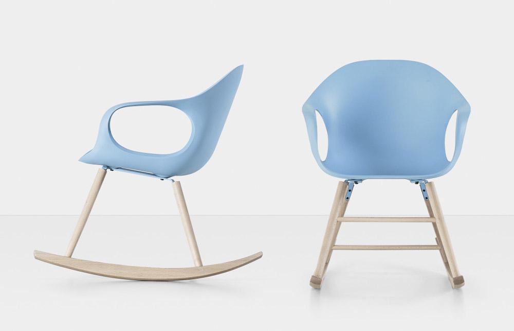 mobilier vintage scaun balansoar Kristalia