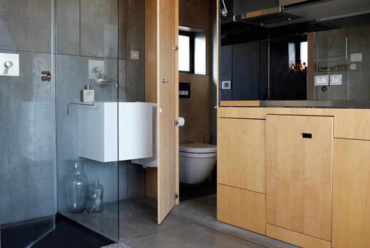 amenajari interioare apartamente mici baie si dus