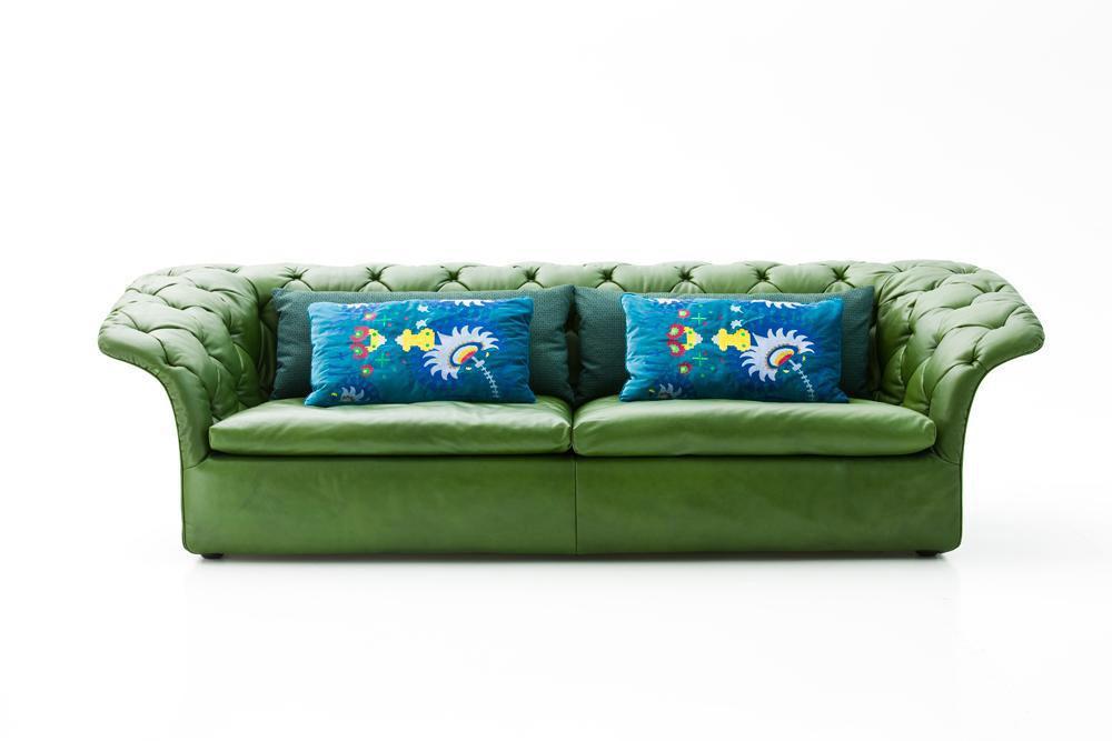 Canapea piele verde