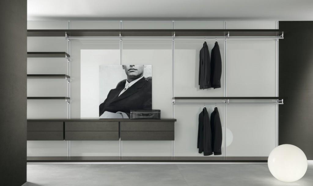 mobilier modern dressing culoare alb negru