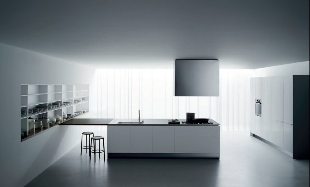 Bucatarii amenajate modern mobilier bucatarie alb negru