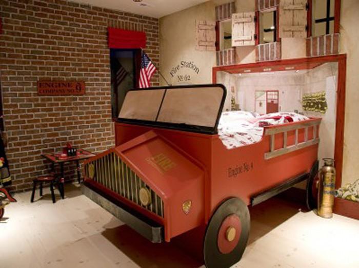 Camere-de-copii-pat-camion-vintage
