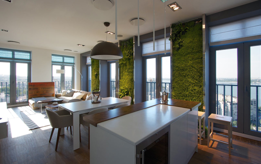 Gradini verticale folosite in amenajarea interioara a unui apartament