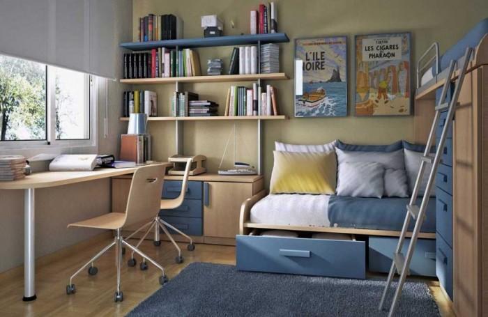 camere-de-copii-pat-etajat-birou-copii
