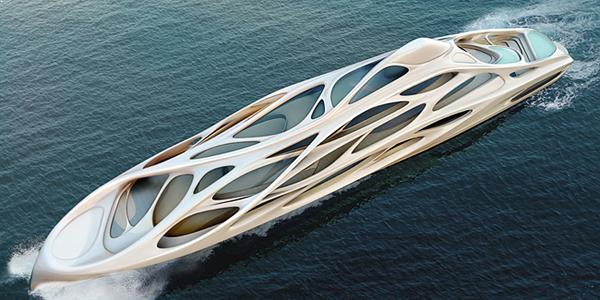 Yacht de lux semnat Zaha Hadid