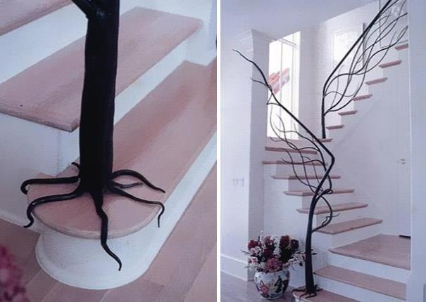 "balustrada ""copac"" pentru o scara interioara clasica"