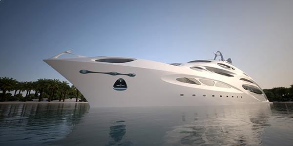 exterior Yacht Zaha Hadid