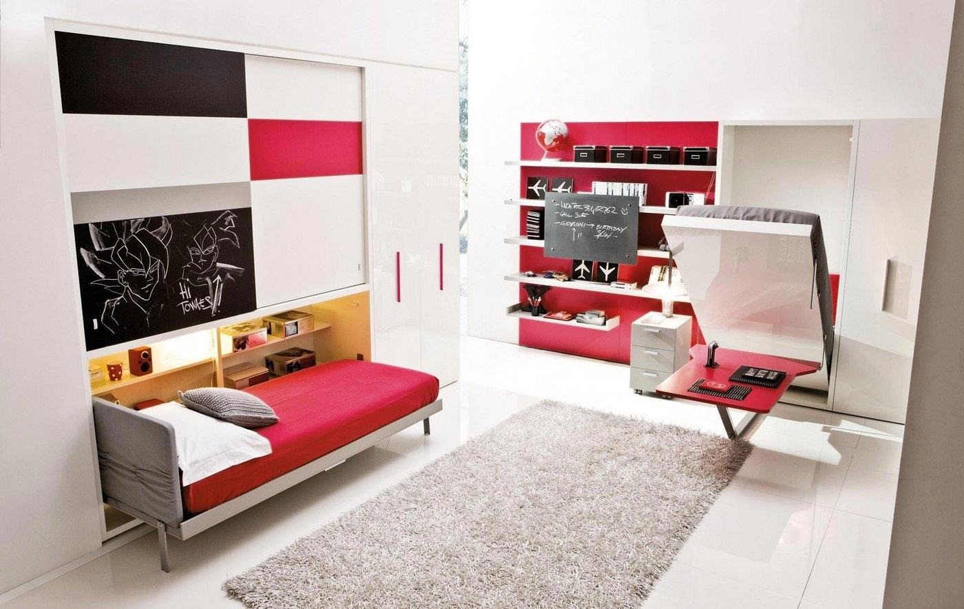 mobila inteligenta transformare birou in pat