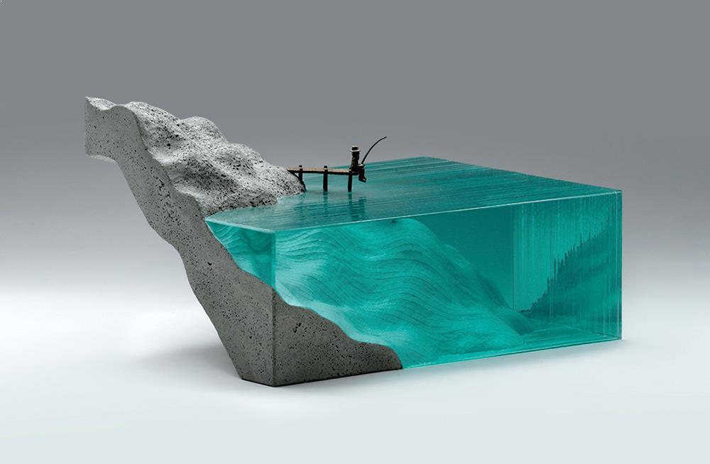 arta decorativa sculptura sticla si beton