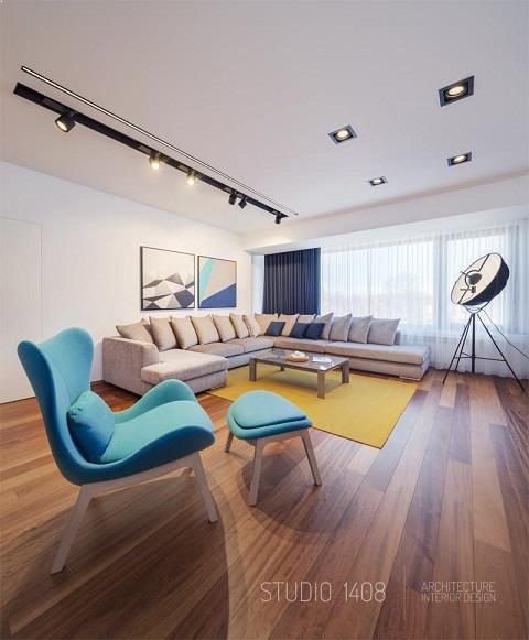 Apartament modern - amenajare living modern