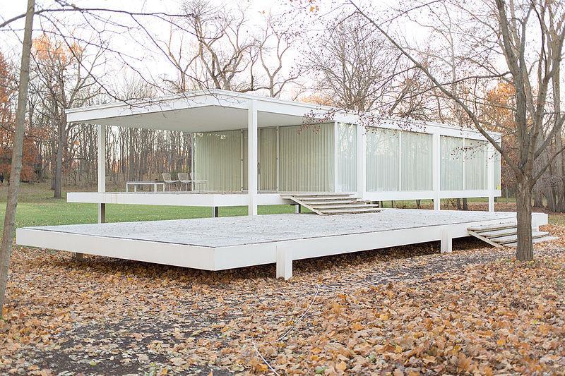 peisaj de toamna casa moderna minimalista linii simple