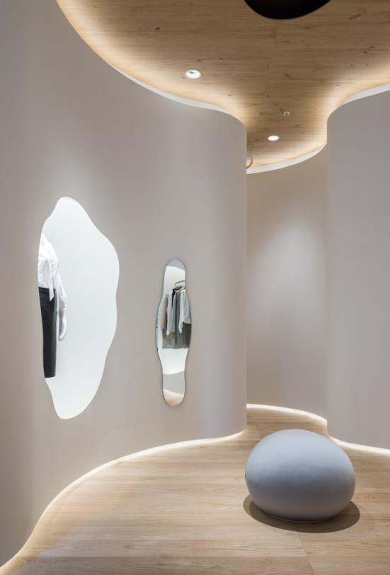 oglinzi folosite in amenajare magazin