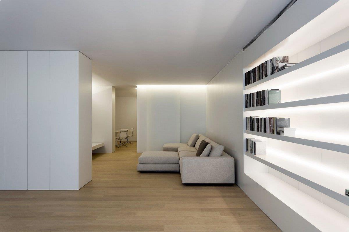 Amenajari interioare cu mobila alba amenajari interioare poze idei inspiratie - Iluminacion indirecta led ...