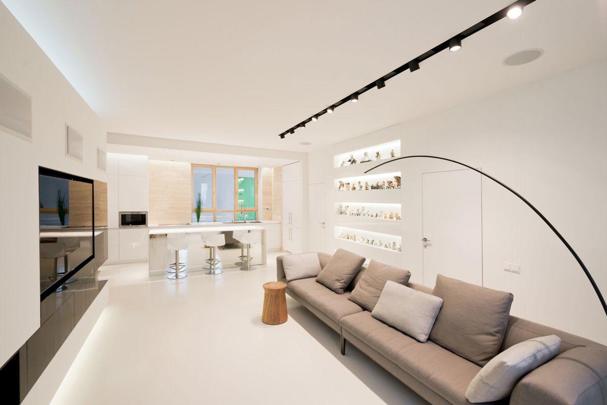amenajare minimalista living modern