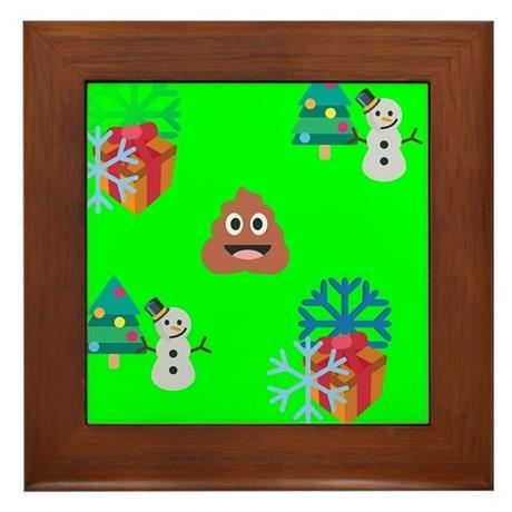 Rame_tablouri_christmas_poop_emoji_framed_tile