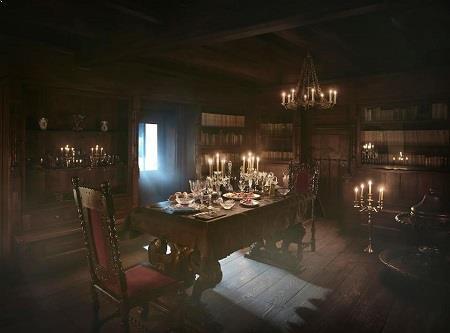 Castelul Bran si decoratiuni de Halloween