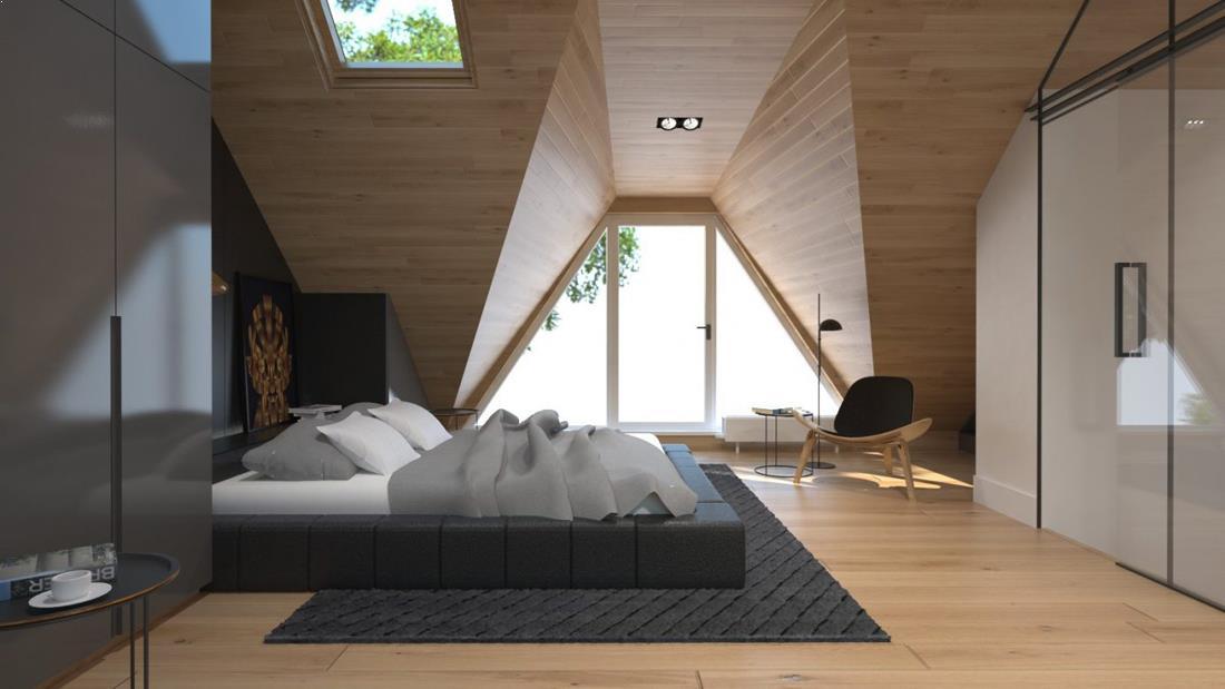 Apartament mansarda cu stil
